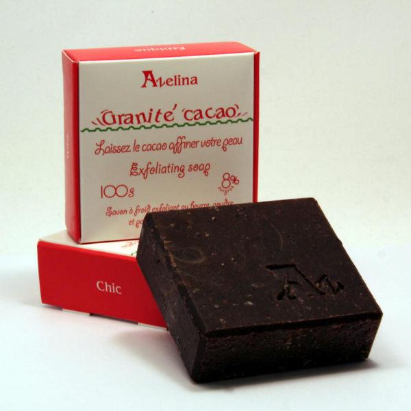 savon granité cacao